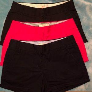 3 pairs like new J Crew shorts